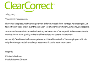 Clear Correct Vantage Advertising Review