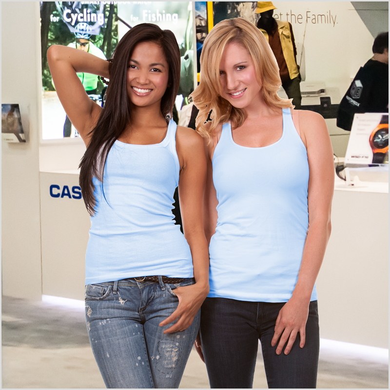 two Las Vegas Booth Models